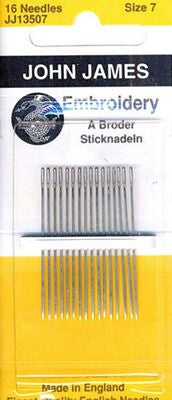 Embroidery and Crewel Needles Size 7