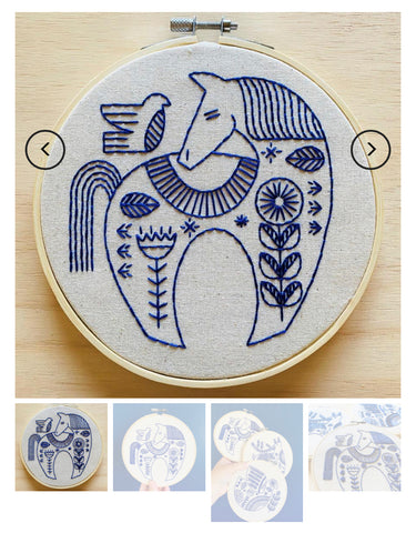 Holiday Hygge Horse Embroidery Kit