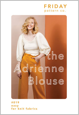 Adrienne Blouse Friday Pattern Co.