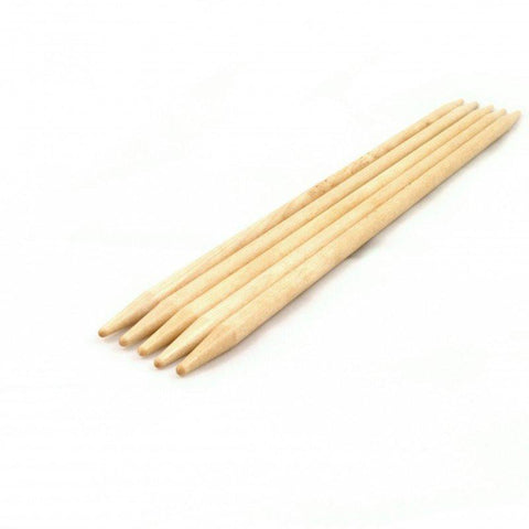 Brittany Double Point Birch Needles 5""