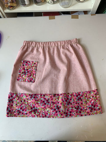 Virtual Week 4 Gathered Skirt with Pockets 8-12 yo