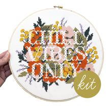 "Chill Vibes Only 10"" Embroidery Kit Junebug and Darlin"