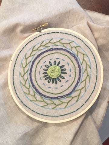 Basic Embroidery Sundays February 9th - March 8th and 3:00 - 5:00pm