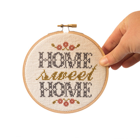 "Home Sweet Home Foyer 5"" Embroidery Kit Junebug and Darlin"