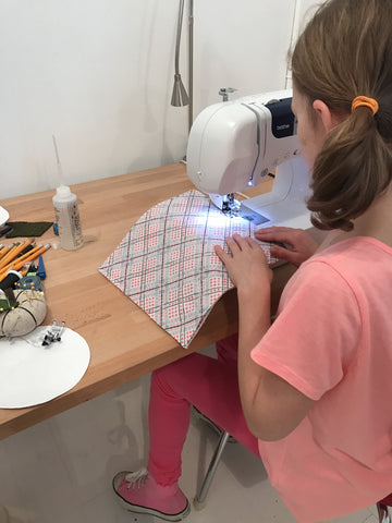 Kid's Basic Sewing + Gathered Skirt Saturdays 9/15 - 11/17, 11:30am-12:45pm