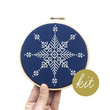 "Large Snowflake I 5"" Embroidery Kit Junebug and Darlin"