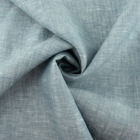 100% Organic Yarn Dyed Linen Poolside
