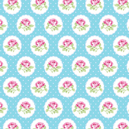 Charlotte Dotted Rose Blue