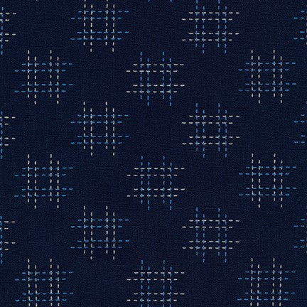 Kasuri Navy Check