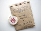 "Snowflake Ornament V 3"" Embroidery Kit Junebug and Darlin"