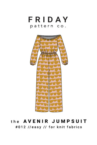 Avenir Jumpsuit Friday Pattern Co.