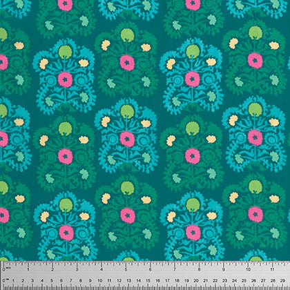 Gypsy Embroidery Teal Voile Amy Butler
