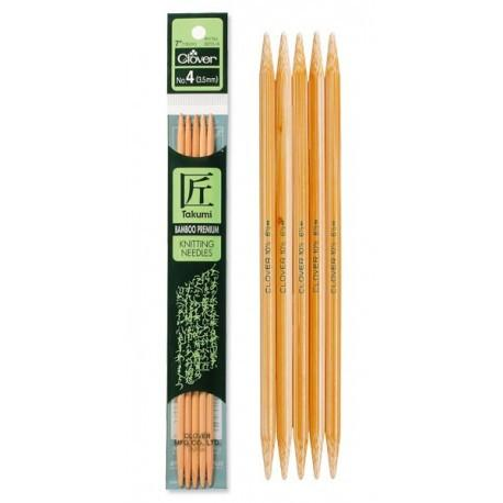 Takumi Double Point Bamboo Needles 7""