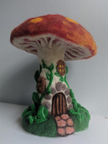 Needle Felting: Fairy Houses 2 Fridays Nov. 8 and 15