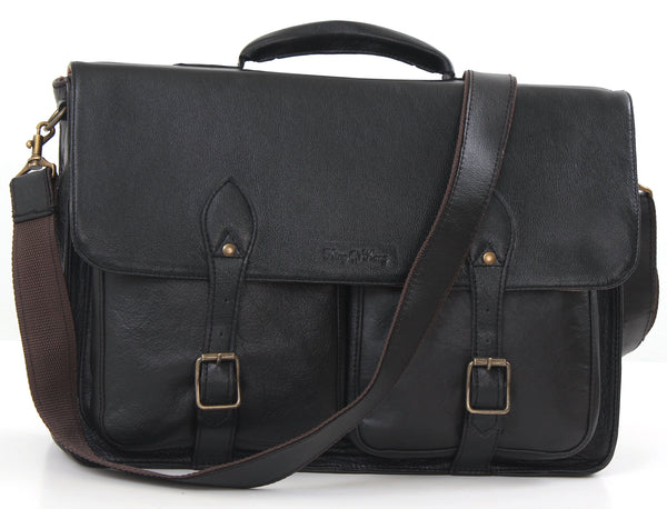 Business - 15.6 Inch Business Laptop Leather Bag