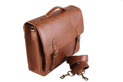 Business - 15 Inch Classic Satchel Notebook Leather Bag