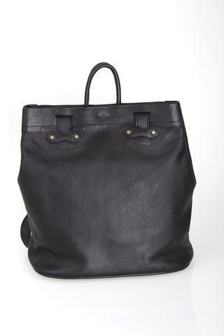 Tote Bag - Two In One Backpack Tote Shopper Shoulder Leather Bag