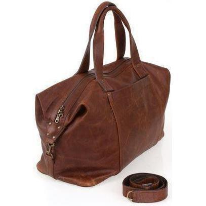 Travel Bag - Weekend Traveller Overnight Leather Bag