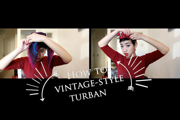 Vintage-style Turban Tutorial with Nora Finds