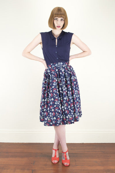 Nora Little Birds Skirt - Elise Design