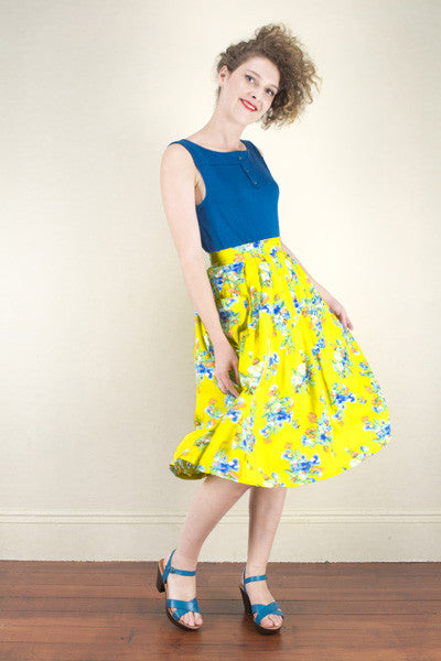 Tropical Paradise Yellow Skirt Elise Design $105.00 Skirts