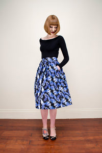 Payton Black Tropical Skirt - Elise Design