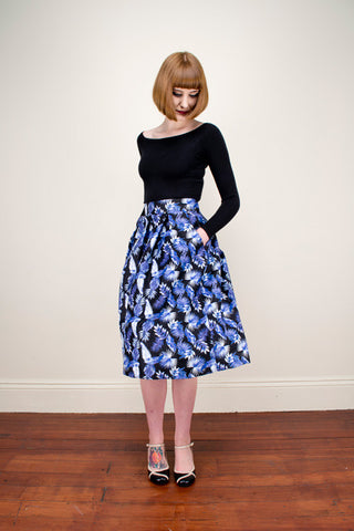 Payton Black Tropical Skirt - Elise Design  - 1