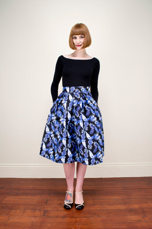 Payton Black Tropical Skirt Elise Design $105.00 Skirts