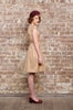 Juliet Cross Collar Dress Beige - Elise Design