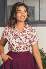 Load image into Gallery viewer, Aster Floral Linen Blouse
