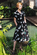 Load image into Gallery viewer, Chiara Black & Creme Floral Dress