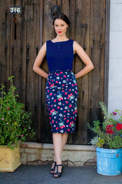Mon Cherie Strawberry Skirt Elise Design $95.00 Skirts