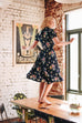 Harlow Navy Floral Dress Elise Design $179.00 Dresses
