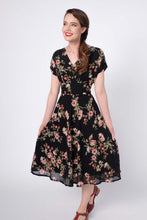 Load image into Gallery viewer, Dakota Black Floral Dress
