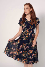 Load image into Gallery viewer, Dakota Navy / Orange Floral Dress