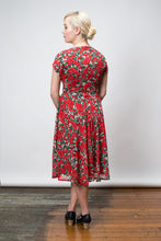Load image into Gallery viewer, Dakota Red & Green Floral Dress