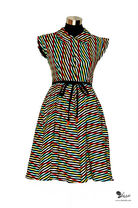 Candy Stripe Dress Original - Elise Design