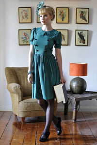 Silk Button Dress - Elise Design