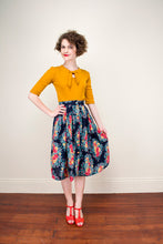 Load image into Gallery viewer, Florence Petrol Floral Skirt - Elise Design