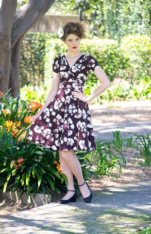 Adriana Brown Dress - Elise Design
