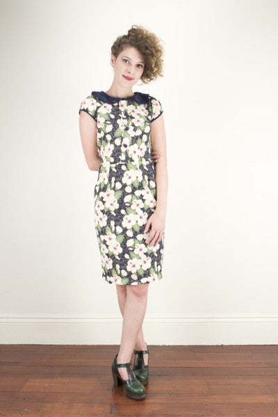 Alvilda Pettie Navy Dress - Elise Design