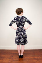Load image into Gallery viewer, Cecile Black Floral Dress - Elise Design