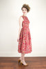 Cherise Red Floral Dress - Elise Design