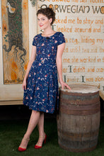 Load image into Gallery viewer, Lottie Navy Floral Dress - Elise Design