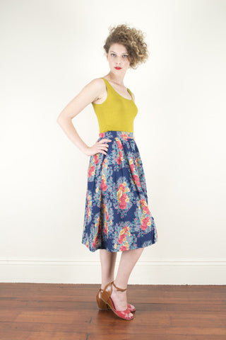 Florance Navy Skirt - Elise Design  - 1