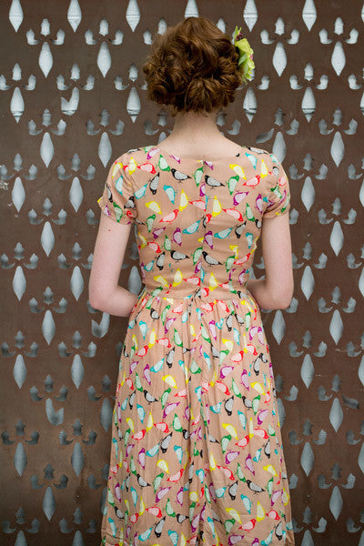 Freya Multi Birds Dress Elise Design $169.00 Dresses