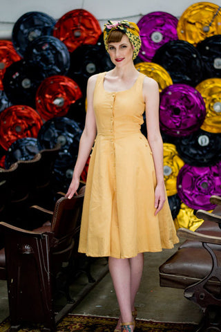Jeanie Yellow Dress - Elise Design  - 1