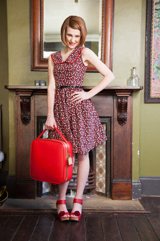Red Rose Swing Dress - Elise Design