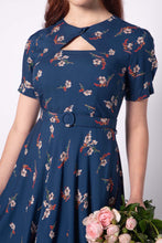 Load image into Gallery viewer, Ginger Teal Cherry Blossom Dress