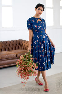Ginger Teal Cherry Blossom Dress